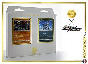 Kabutops 78/181 Y Grahyèna (Mightyena) 87/181 - #tooboost X Soleil & Lune 9 Duo de Choc - Box de 10 Cartas Pokémon Francés + 1 Goodie Pokémon
