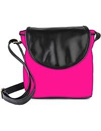 Snoogg Plain Pink Womens Sling Bag Small Size Tote Bag