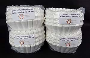 EDESIA ESPRESS - 800 filtri scanalati in carta per caffè americano - 75/180mm - 4-10 tazze