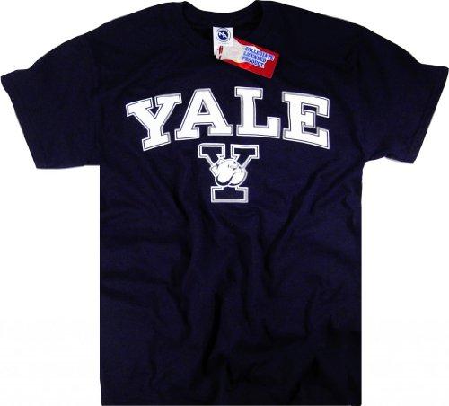 Yale-Universität-Sweatshirt mit Kapuze. Gr. XL, blau