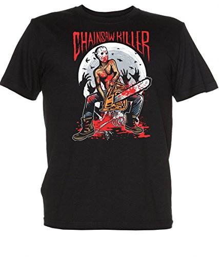 Renowned Ladies' Chainsaw Killer T Shirt Schwarz