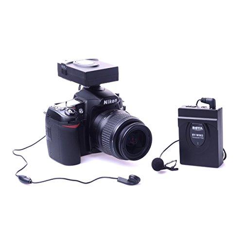 BOYA by-wm5Pro Système de microphone Lavalier Microphone sans fil pour Canon Nikon Sony DSLR Caméscope Enregistreur audio