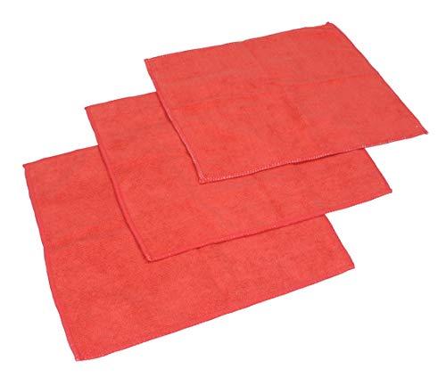 Betz Microfaser Reinigungstücher rot 30 x 30 cm (3er-Pack)