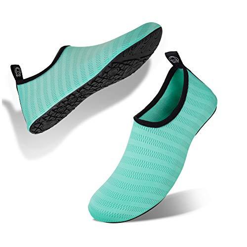 Scarpe da Immersione Mare Spiaggia Ballo Yoga Sport Acquatico Traspirante Scarpe a Piedi Nudi dell'Acqua Scarpe Acquatici per Donna Uomo(Verde Chiaro,36EU/37EU)