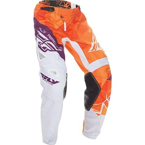 370-53734 - Fly Racing 2017 Kinetic Crux Motocross Pants 34 Orange White Burgundy -