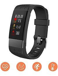 ZRSJ I7 Smart Fitness Tracker Activité visible Android & IOS Compatible Hommes femmes enfants (Noir)