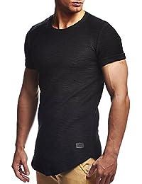 LEIF NELSON Hommes Oversize T-Shirt Hoodie Sweatshirt col Rond Encolure Manche Courte Longsleeve Top Basic Shirt Crew Neck Vintage Sweatshirt LN6324