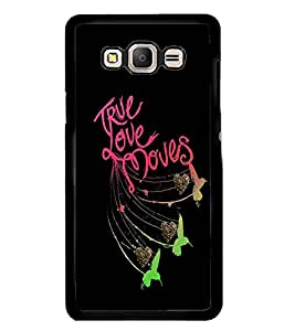 Fuson Premium True Love Moves Metal Printed with Hard Plastic Back Case Cover for Samsung Galaxy On7