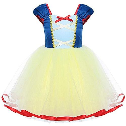 Mamum Enfant Fille Déguisement Robe Florale Princesse Tutu Jupe Costume de Photographie Cérémonie Anniversaire Fête Soirée Spectacle Robe Midi d'Été sans Manche (100(3Ans))