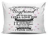 Best Boyfriend Pillow Cases - to My Gorgeous Boyfriend Cute Novelty Pillow Case Review