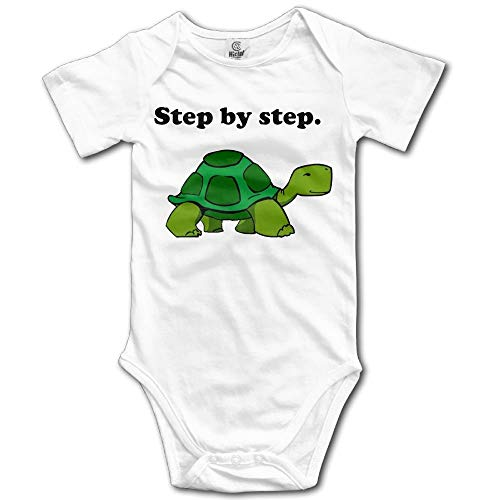 Step by Step Turtle Boy's & Girl's Short Sleeve Jumpsuit Outfits White