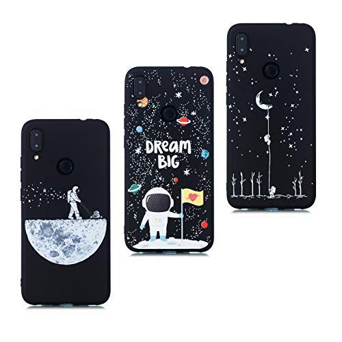 7 Silicona TPU Negro Carcasa Redmi Antigolpes Space 7 Note Blando Creativo Funda Dibujos Note para Gracioso Espacio Xiaomi Pro HopMore Universo wvNn8m0