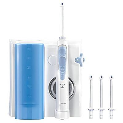 Oral-B WaterJet-Munddusche (elektrische Zahnbürste mit Ersatzdüsen WaterJet, schützt vor Karies, Mundgeruch und Zahnfleischentzündung, powered by Braun)