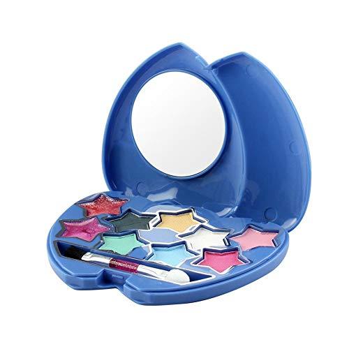 Disney Frozen Princess Make-up-Set Kinderkosmetikspielzeug Vorgeben, Lipgloss zu Spielen Erröten Lidschatten Make-up Pinsel Waschbar Sicher Giftfrei Für Kinder Teens Mädchen (Disney Frozen Make Up)