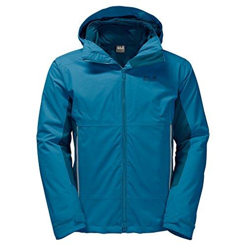 Preisvergleich Produktbild JACK WOLFSKIN Herren 3in1-Jacke NORTH BORDER, dark turquoise, XXXL, 1107803-1077007