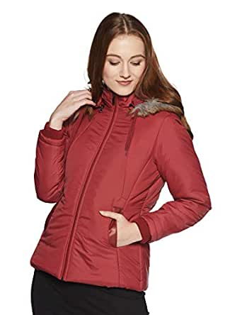 Qube By Fort Collins Women's Parka Hoodie (39245 SMU_Maroon_XXL)
