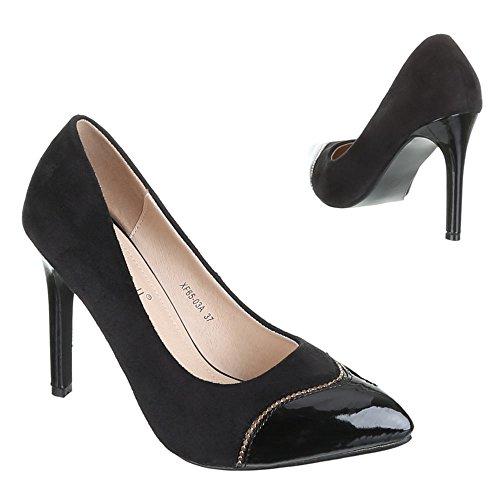Damen Schuhe, XF65-03A, PUMPS HIGH HEELS Schwarz