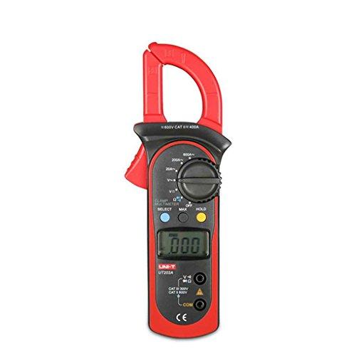 UT202A Daten Halt Strommesszange 600A AC Strom DC/AC Spannung Zange Widerstand Tester Digital Clamp Meter (Clamp Dc)