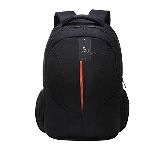 YAAGLE Rucksack Business Laptoptasche Schüler multifunktional Schultasche Damen und Herren Unisex Schulterasche Reisetasche Sporttasche-black&orange