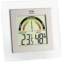 TFA Dostmann 30.5023 - Termómetro/hidrógrafo digital con indicador de zona de confort