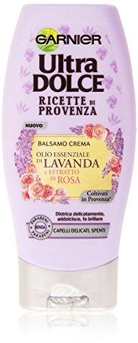 Garnier Ultra Dolce Ricette di Provenza Balsamo per Capelli Delicati Spenti senza Parabeni, 200 ml
