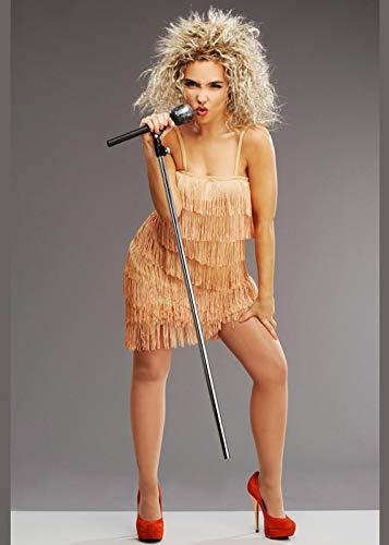 ina Turner Style Fransen Kostüm mit Perücke Small (UK 8-10) ()