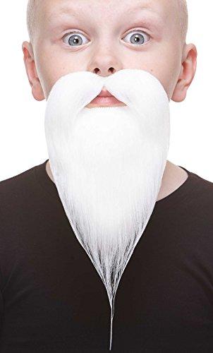Mustaches Selbstklebende Kleiner Philosopher Fälschen Bart für Kinder Weiß Farbe (Falschen Bart Und Perücke)