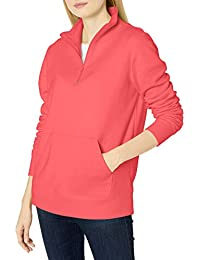 Amazon Essentials Long-Sleeve Lightweight French Terry Fleece Quarter-Zip Top - Fleece-Outerwear-Jackets Mujer