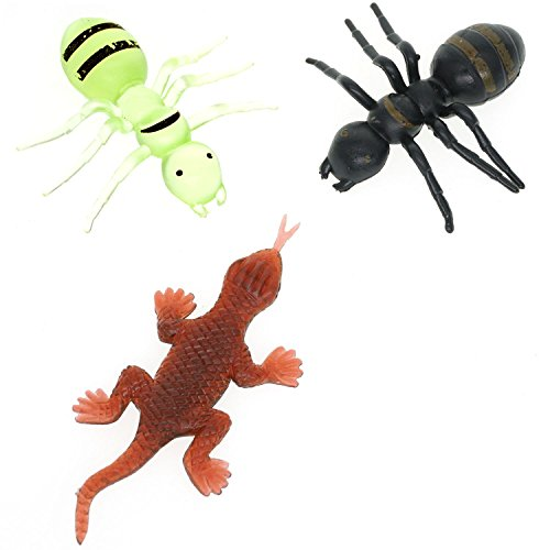 cooplay-30pcs-fake-gecko-ant-giantants-queen-black-plastic-mock-reptile-insects-joke-toys-prank-scar
