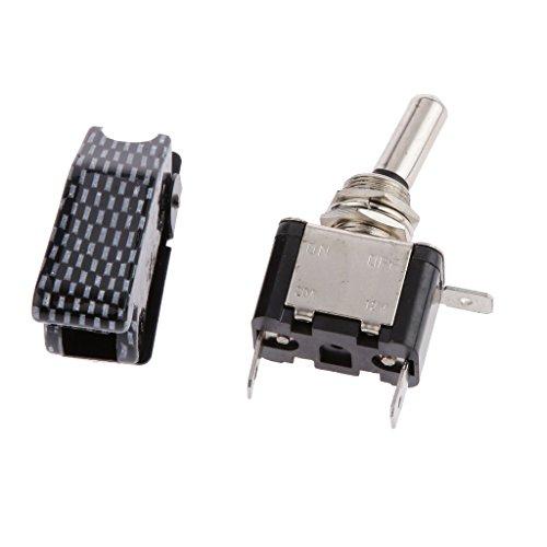 Preisvergleich Produktbild Gazechimp 12V 20A Auto KFZ Schalter Wippschalter Ein/Ausschalter LED Beleuchtet Wechsel Switch Kippenschalter - Blau