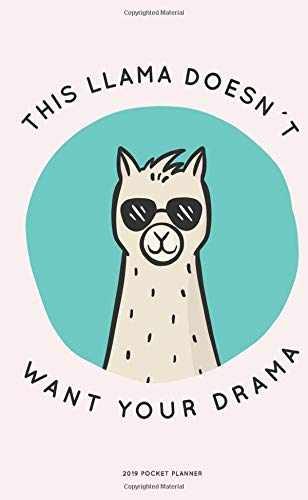 2019 Pocket Planner: 2019 pocket Monthly calendar Planner | January - December 2019 For To do list Planners And Academic Agenda Schedule Organizer Logbook Journal Notebook | Llama Not Drama Cover
