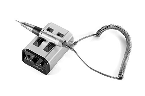 MelodySusie Nagelfräser Elektrisches Maniküre Nagelfeile 6 Set, professionelle Wiederaufladbare Maniküre Pediküre Kit für Heim und Salon -EU Stecker (Silber)