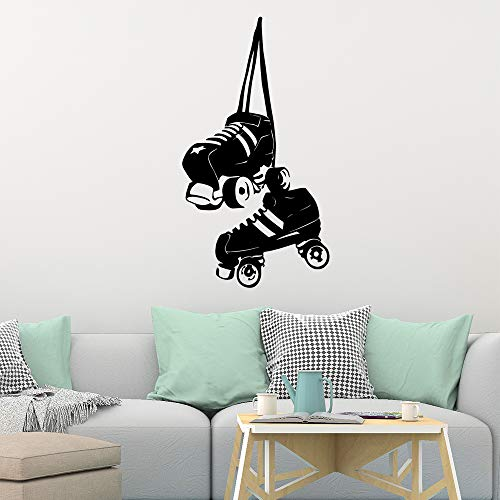 Diy Hausschuhe Wandaufkleber Mode Wandaufkleber Kinderzimmer Dekoration Wanddekoration Wandbild 42 * 77 cm