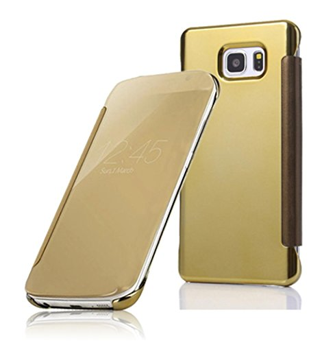 for-samsung-s7-case-fulltimetm-clear-view-mirror-flip-smart-cover-for-samsung-galaxy-s7-gold