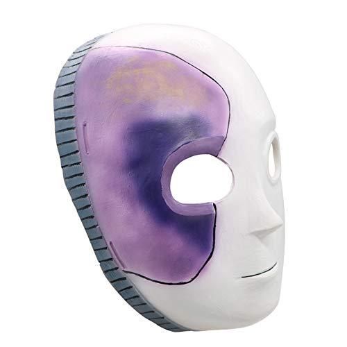 Maske, Blaue wellenförmige Perücke Cosplay Game Masque, Sally Face Naturlatex Masken, für Cosplay, Halloween Thema Kostüm Party Requisiten (Mask) ()