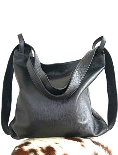Bolso mochila cuero mujer artesanía italiana