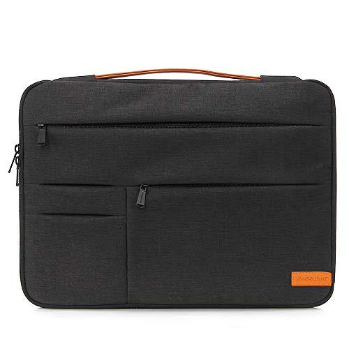 KINGSLONG Laptop Tasche 17 Zoll Business Umhängetasche Schultertasche Durable Tablet Hülle für College/Herren/Frauen/Männer/Damen (Schwarz)