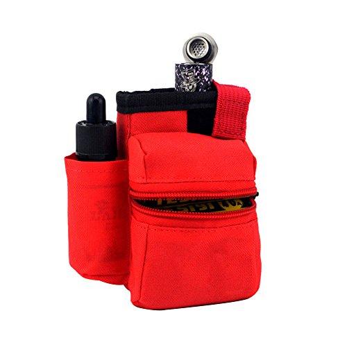 H&W Anti-Verschleis Verdampfer Tasche E-Zigarette Rauchige Tragetasche Tarnung Rot