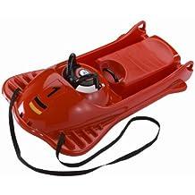 KHW - Slitta in plastica Mountain Racer, rosso  (rosso), 106x56x32 cm - Volante Slitta