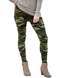 Magiyard Camuflaje Pantalones Calzas elásticas de invierno