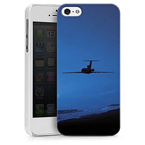 Apple iPhone X Silikon Hülle Case Schutzhülle Flugzeug fliegen Himmel Hard Case weiß
