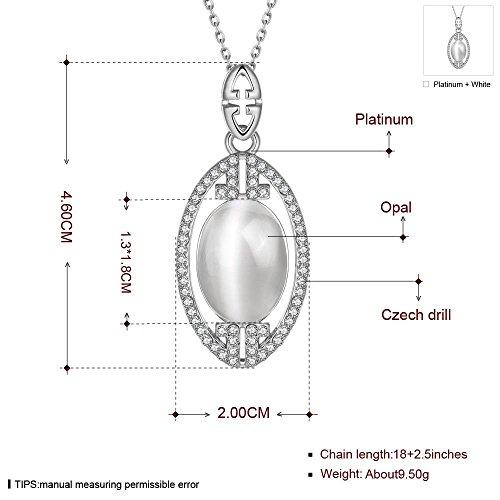 Klassische Pop Persönlichkeit Geometrische Dame Halskette , Platin