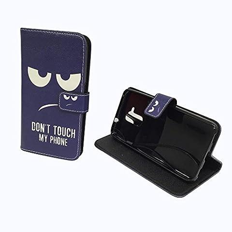 König Boutique Huawei Honor 5C Housse Sac Étui Case Cover Wallet en cuir synthétique motif Don't Touch My Phone