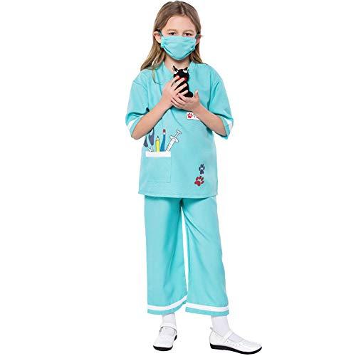 Hallowmax Kinder Spielzeug Unisex Tierarzt Kostüm für Halloween Cospaly Mottoparty Süße Liebliche Spielerlebniskleidung S ()