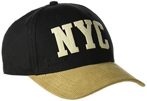 Schott NYC Herren Baseball Cap CAPJIMMY, Mehrfarbig (Black/Camel 9012), One Size