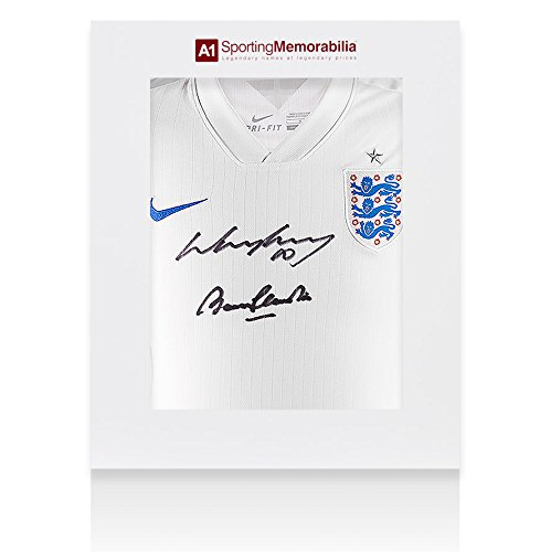 Wayne-Rooney-Sir-Bobby-Charlton-Dual-Signed-England-Shirt-Gift-Box