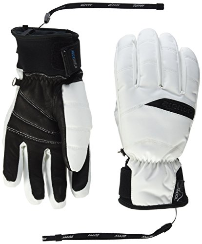 Ziener Damen Komi As(R) Aw Lady Gloves Alpinhandschuhe, weiß, 6.5