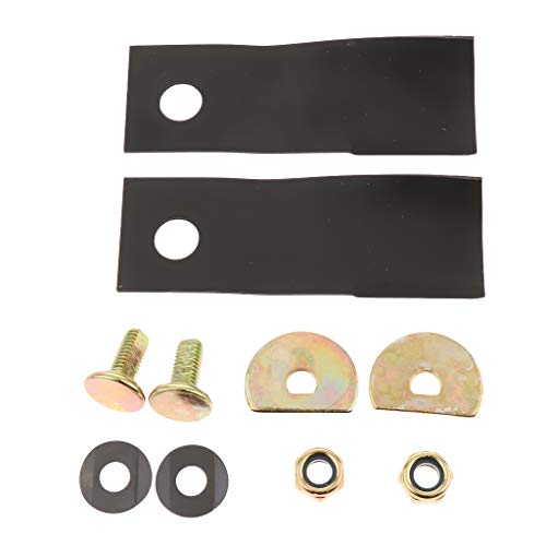 FLAMEER Messer Ersatzmesser Ersatzteile für Honda GXV160 Elektro-Rasenmäher - 14,5 x 4,5 cm