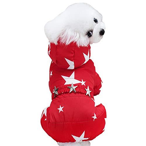GODGETS Sweater für Hunde Haustier Hund Katze Welpen Winter Warme Kleidung Jacke Mantel Bekleidung Rot L