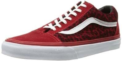 Vans U Old Skool, Baskets mode mixte adulte - Rouge (Leopard Red), 35 EU (040 / 4 US)